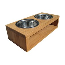 Bambu Pet Diner Double Feeder