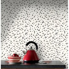 "Contour Checker 33' x 20.5"" Geometric Embossed Wallpaper"