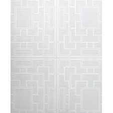 "Kelly Hoppen Style 33' x 20"" Geometric Wallpaper"
