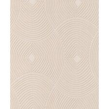 "Verona 33' x 20"" Geometric Embossed Wallpaper"