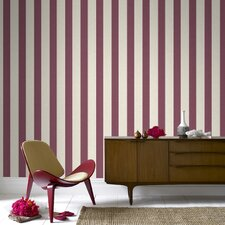 "Ticking 33' x 20"" Stripes Wallpaper"