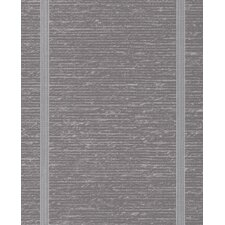 "Solace 33' x 20"" Stripes Embossed Wallpaper"