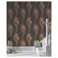 "Serenity 33' x 20.5"" Peace Embossed Wallpaper"