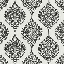 "Luna 33' x 20"" Damask Embossed Wallpaper"
