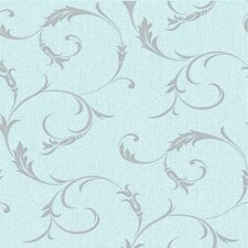 Athena Swirling 33' x 20'' Scroll Embossed Wallpaper