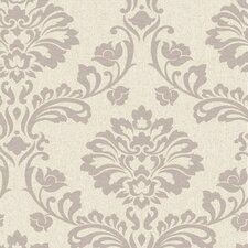 Aurora Regal 33' x 20'' Damask 3D Embossed Wallpaper