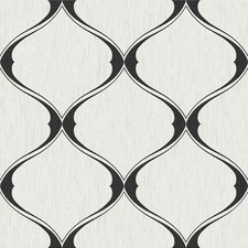 Graham Curvy Ogee 33' x 20'' Trellis Embossed Wallpaper