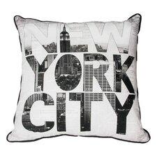 NY Type Cotton Throw Pillow