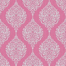 "Luna 33' x 20"" Damask 3D Embossed Wallpaper"