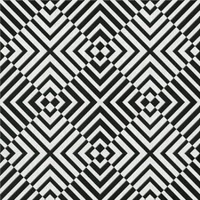 The Hypnotist 33' x 20'' Geometric Flocked Wallpaper