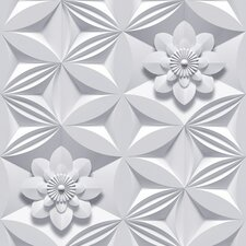 Illusions 33' x 20'' Flower 3D Embossed Wallpaper
