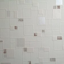 "Contour Spa Pastel  33' x 20.5"" Geometric Embossed Wallpaper"