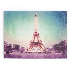 Spring 2015 Paris At Dusk Photographic Print on Wrapped Canvas