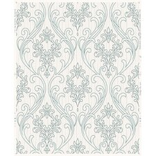"Palais Royale 33' x 20"" Damask Stria Wallpaper"