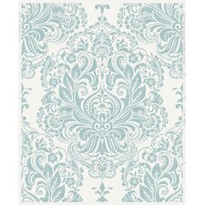 "Palais Melody 33' x 20"" Damask Wallpaper"