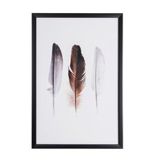 Spring 2015 Feather Trio Framed Graphic Art