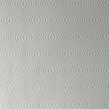 "Paintable Curvy 33' x 20"" Geometric 3D Embossed Wallpaper"