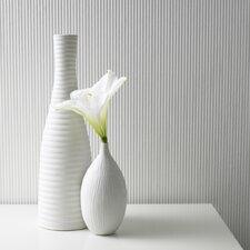 "Paintable Corduroy 33' x 20"" Stripes 3D Embossed Wallpaper"