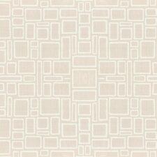 "Paintable 33' x 20.5"" Geometric 3D Embossed Wallpaper"