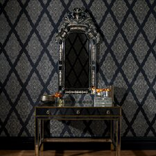 "Fabulous 33' x 20.5"" Geometric Flocked Wallpaper"
