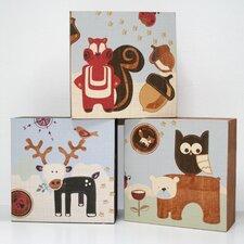 3 Piece Forager Block Canvas Art Set