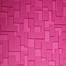 "Odyssey Checker 33' x 20"" Geometric 3D Embossed Wallpaper"