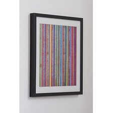 Neon Stripe Framed Painting Print