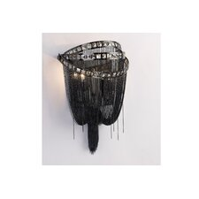 Wilshire Drive 2 Light Chain and Crystal Wall Sconce