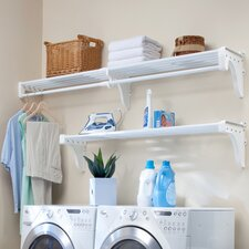 Expandable Laundry Room Shelving Kit