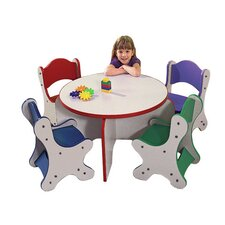 Friends Kids 5 Piece Table and Chair Set