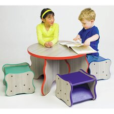 Wavy Legs Kids 5 Piece Table and Stool Set