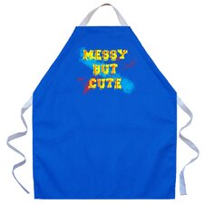 Messy But Cute Apron in Royal