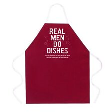 Real Men Do Dishes Apron in Maroon