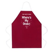 Where's My Drink? Apron