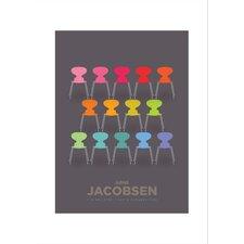 Poster Arne Jacobsen Colourful Ants, Retro-Werbung