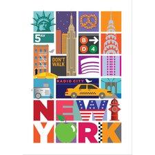 Poster New York City Travel, Grafikdruck
