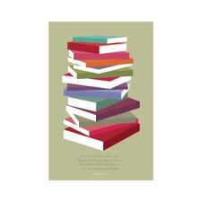 Poster Books Pile, Grafikdruck