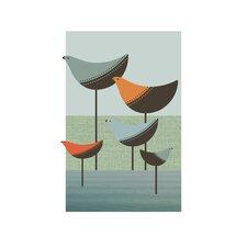 Poster Wading Birds, Grafikdruck