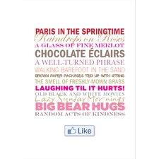 Poster Facebook LIKE, Typografische Kunst