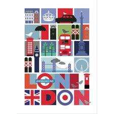 Poster London Travel, Grafikdruck