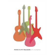 Poster Music is My Religion, Grafikdruck