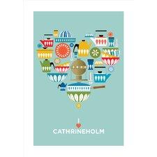 Poster I Love Cathrineholm, Grafikdruck