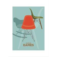 Poster Charles Eames 2, Retro-Werbung