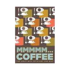 Poster Mmm Coffee, Grafikdruck
