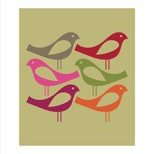Poster Siz Birds, Grafikdruck