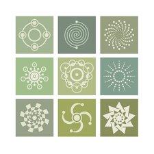 Poster Crop Circles Collage, Grafikdruck