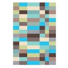 Poster Bauhaus Abstract, Grafikdruck in Blau