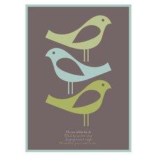 Poster Three Little Birds, Grafikdruck in Braun
