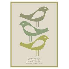 Poster Three Little Birds, Grafikdruck in Grau