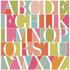 Poster Nursery Alphabet, Grafikdruck